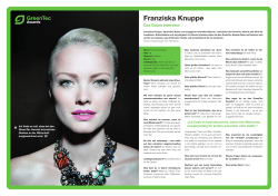 Franziska Knuppe - GreenTec Awards