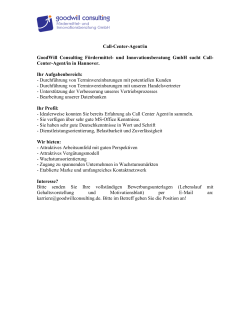 Call-Center-Agent/in GoodWill Consulting Fördermittel