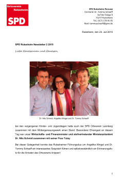 SPD Newsletter 2 2015