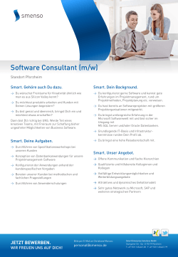 Software Consultant (m/w)