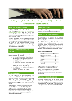 ÜGK 2016 Mathematik Factsheet