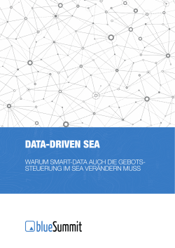 data-driven sea - Blue Summit Media GmbH
