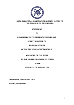 sadc electoral observation mission (seom) to the republic of