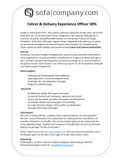 Fahrer & Delivery Experience Officer 30%