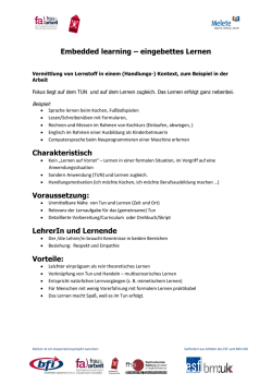 Embedded learning - Erwachsenenbildung.at