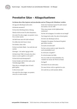 Provokative Sätze – Alltagssituationen