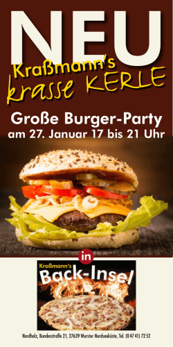 Große Burger-Party - Kraßmanns Backstube