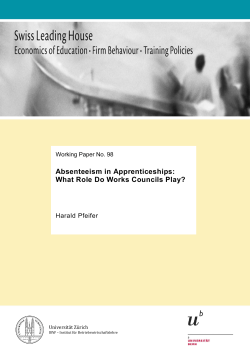 Absenteeism in Apprenticeships: What Role Do
