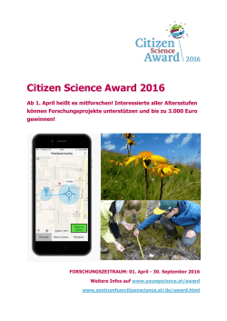 Citizen Science Award 2016