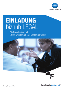 EINLADUNG bizhub LEGAL