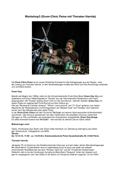 Workshop3 (Drum-Clinic Peine mit Thorsten Harnitz)