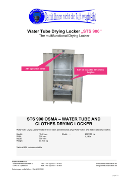 "Water Tube Drying Locker ""STS 900"""