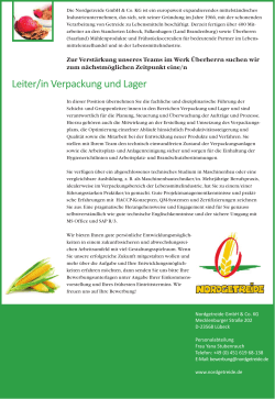 Leiter Verpackung & Lager