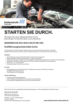STARTEN SIE DURCH. - Kattenstroth Automobile