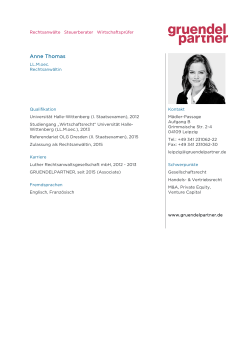 Anne Thomas - GRUENDELPARTNER
