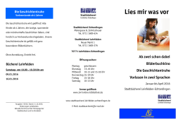 "Flyer ""Lies mir was vor"""
