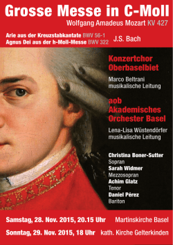 Grosse Messe in C-Moll - Akademisches Orchester Basel