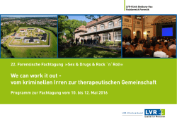 We can work it out - vom kriminellen Irren zur therapeutischen