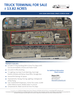 TRUCK TERMINAL FOR SALE ± 13.82 ACRES