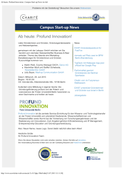 Campus Start-up News im Juli