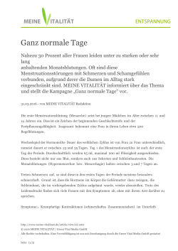 Ganz normale Tage