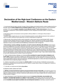 Declaration of the High-level Conference on the Eastern