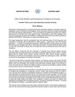 UNITED NATIONS NATIONS UNIES Office of the Resident and