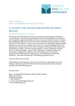 21.12.2015: the ukulele orchestra of great britain