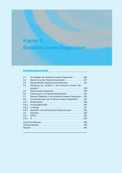 Kapitel 9 Einfache lineare Regression