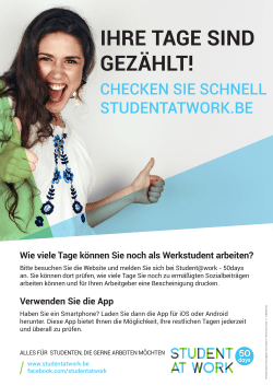 Poster Student@work - MySocialSecurity.be