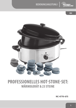 professionelles hot-stone-set