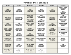 Franklin Fitness Schedule