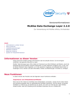McAfee Data Exchange Layer 2.2.0
