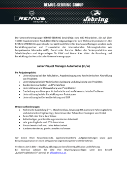 Junior Project Manager Automotive (m/w)