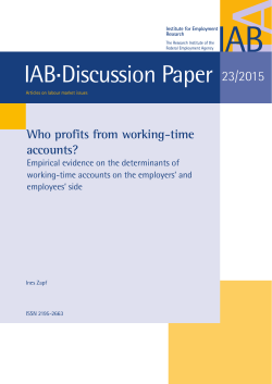 Who profits from working-time accounts? Empirical evidence
