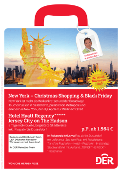 New York – Christmas Shopping & Black Friday
