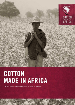 Dr. Michael Otto über Cotton made in Africa