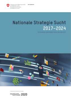 Nationale Strategie Sucht 2017–2024