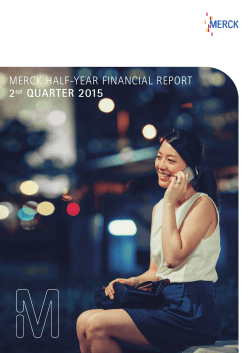 Merck Half-Year financial report 2ND quarter 2015