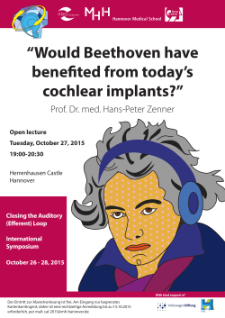 """Would Beethoven have benefited from today`s cochlear implants?"""