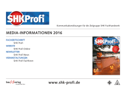 SHK Profi Media-Informationen 2016