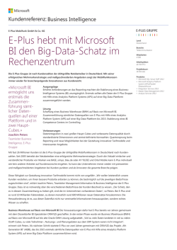 E-Plus hebt mit Microsoft BI den Big-Data