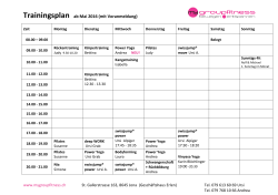 Trainingsplan - mygroupfitness