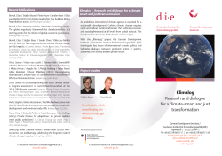 Klimalog Research and dialogue for a climate