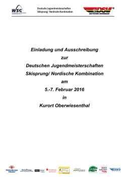 Nordische Kombination am 5.-7. Februar 2016 in Kurort
