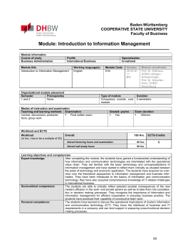 Module: Introduction to Information Management