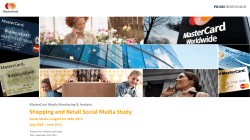 Shopping and Retail Social Media Study