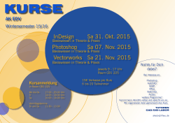 InDesign Sa 31. Okt. 2015 Photoshop Sa 07. Nov. 2015