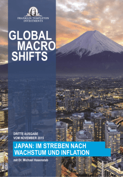 Global Macro Shifts: Japan: The Quest for Growth and Inflation