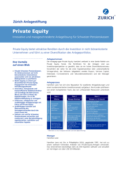 Private Equity - Zurich Invest AG